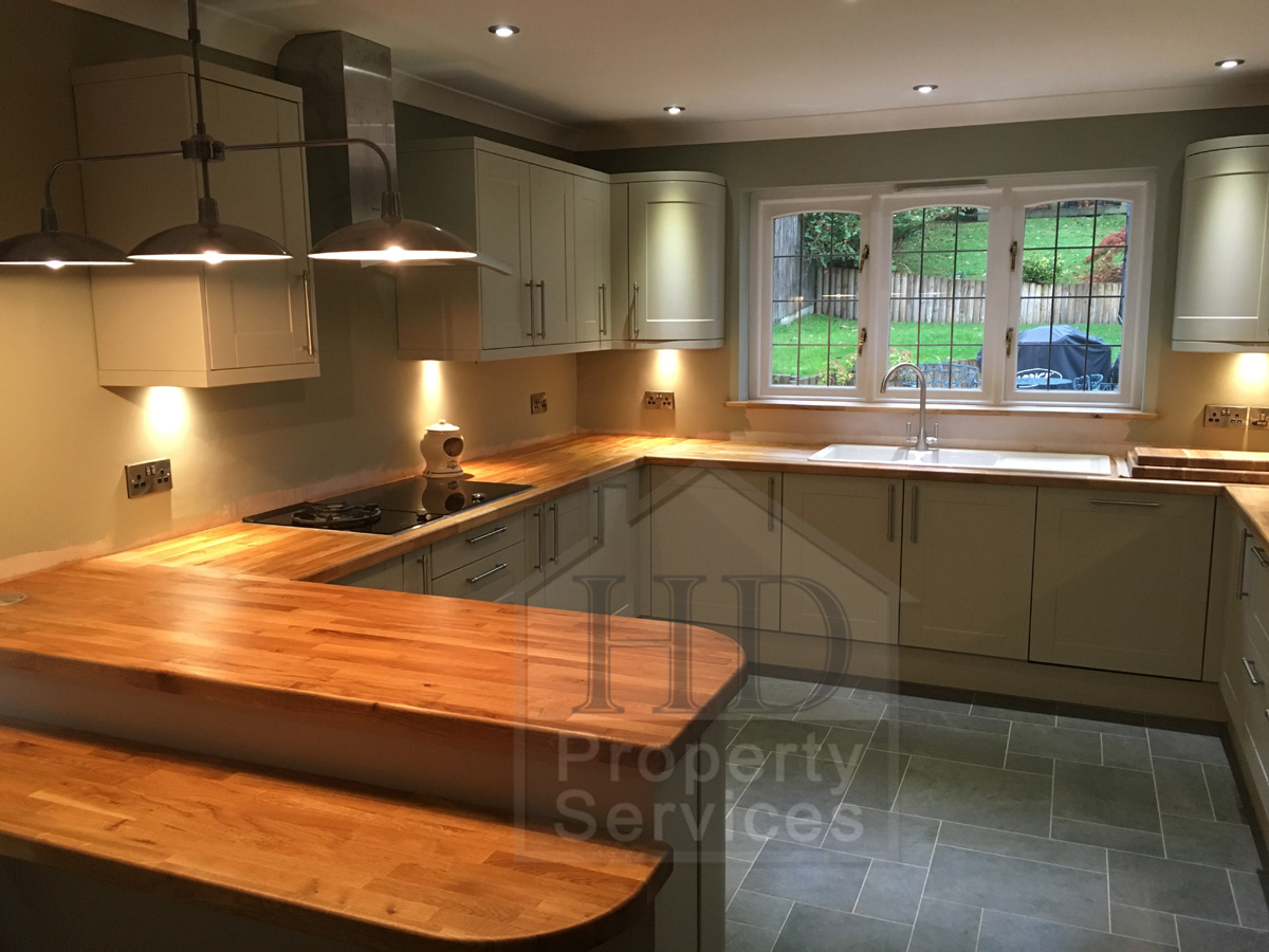 Complete kitchen re-fit with Karndean flooring photo 1