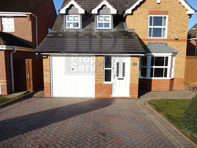 Single storey porch and garage extension photo 1