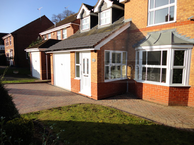 Single storey porch and garage extension photo 3
