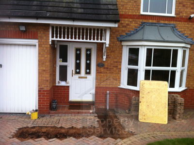 Single storey porch and garage extension photo 4