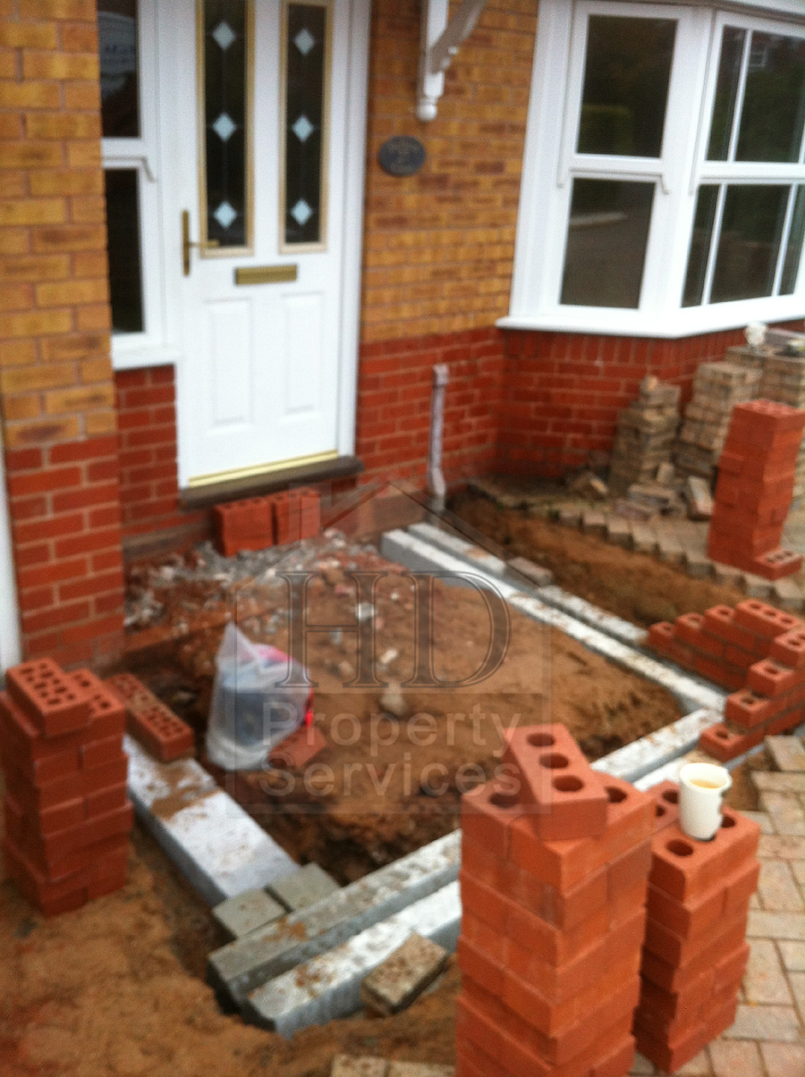 Single storey porch and garage extension photo 5