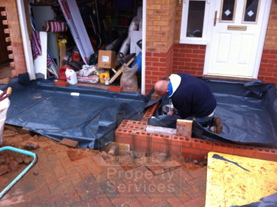 Single storey porch and garage extension photo 6