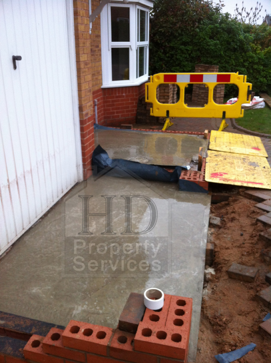 Single storey porch and garage extension photo 7