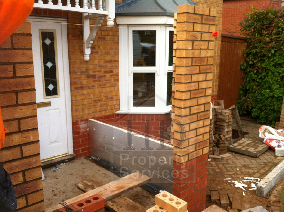 Single storey porch and garage extension photo 9