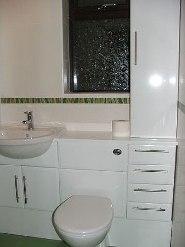 after photo of new bathroom installation