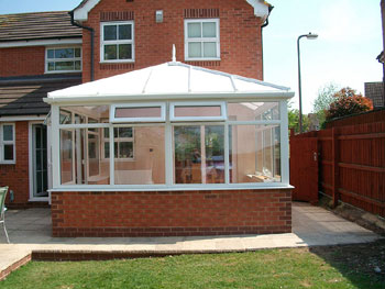 The completed conservatory after construction