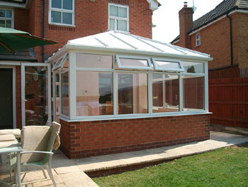 The finished conservatory