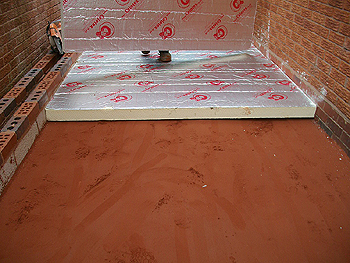 Laying the floor insulation
