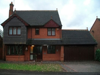 The house and garage before extension