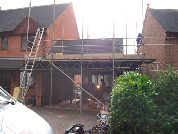 Preparing to remove the old roof