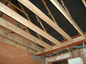 Inserting the floor joists