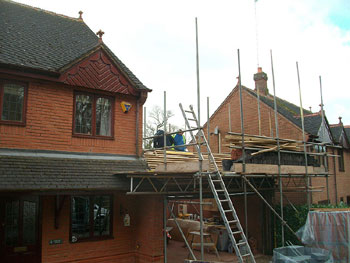 Removing the old timber battens