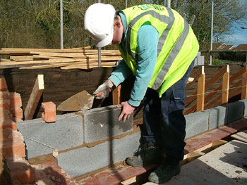 Construction of the first wall