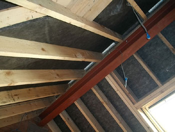 The new roof interior