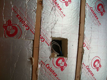Thermal roof insulation (close-up)