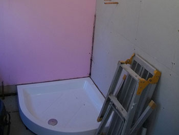 Starting on the en-suite shower room