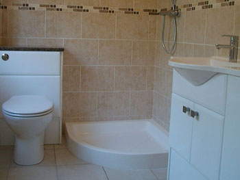 Tiling, plumbing & electrics completed