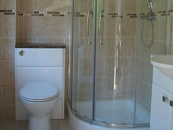 The completed en-suite shower room