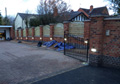 Gated Access With Decorative Boundary Wall, Electric Gates, Intercom and Lighting 2