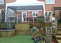HD Property Services garden decking large decked area